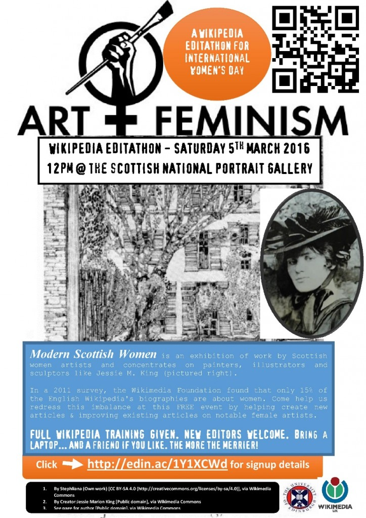 Poster for a recent Art+Feminism Wikipedia editathon